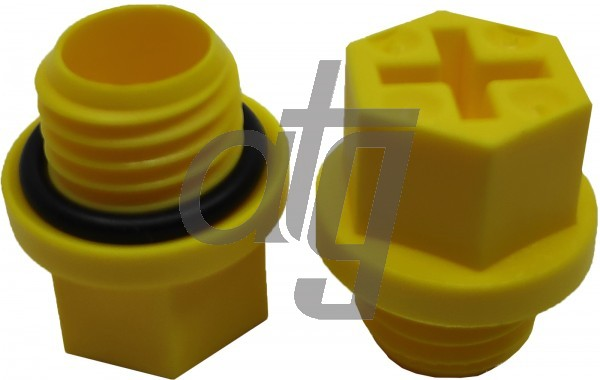 Plastic plug (with screw)<br><br>12x1.5<br><br>