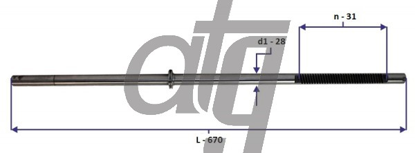 Steering rack bar<br><br>ALFA-ROMEO 159 2005-2010<br> (L - 900, d1 - 26, n - 32) <br><br>
