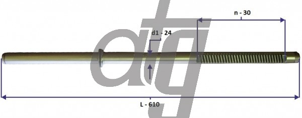 Steering rack bar<br><br>MITSUBISHI Lancer IX 2003-<br> (L - 610, d1 - 24, n - 30)<br><br>