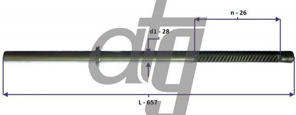 Steering rack bar<br><br>BMW E60 2004-<br> (L - 657, d1 - 28, n - 26)<br><br>