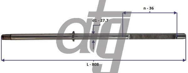 Steering rack bar<br><br>AUDI A6 1998-2005 (Koyo)<br> (L - 808, d1 - 27,7, n - 36)<br><br>