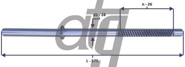 Steering rack bar<br><br>BMW 3 E36 1990-2000, TRW<br> BMW Z3 1997-2003, TRW<br> (L - 575, d1 - 28, n - 26)<br><br>