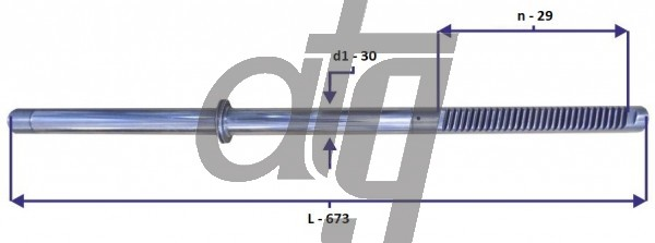 Steering rack bar FORD Transit 1985-2000 (L - 673, d1 - 30, n - 29)