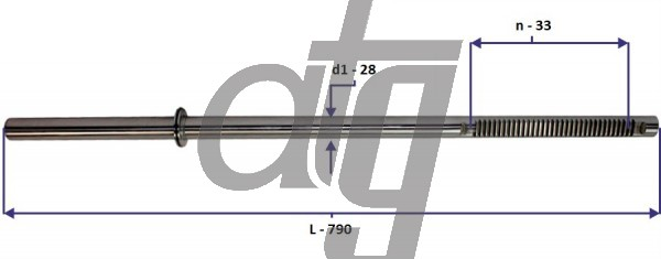 Steering rack bar<br><br>VW Transporter T5 2003-2008<br> VW Multivan 2003-2008<br> (L - 790, d1 - 28, n - 33)<br><br>