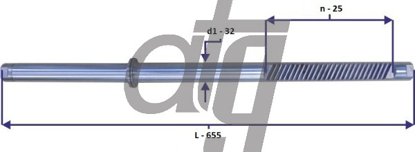 Steering rack bar<br><br>MERCEDES S (W220)<br> (L - 655, d1 - 32, n - 25)<br><br>