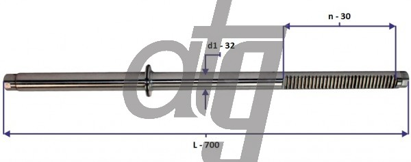 Steering rack bar<br><br>MERCEDES Sprinter 901<br> (L - 700, d1 - 32, n - 30)<br><br>