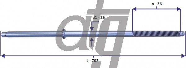 Steering rack bar<br><br>FORD C-Max 2004-2010<br> FORD Focus II 2004-2011<br> (L - 702, d1 - 25, n - 36)<br><br>