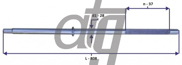 Steering rack bar<br><br>AUDI A6 (ZF)<br> (L - 808, d1 - 28, n - 37)<br><br>