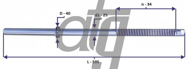 Steering rack bar<br><br>OPEL Vectra C<br> (L - 595, d1 - 25, n - 34, D - 40)