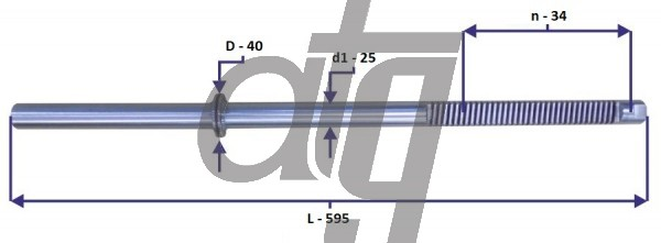 Steering rack bar<br><br>OPEL Vectra C<br> (L - 595, d1 - 25, n - 34, D - 41)