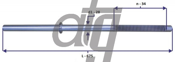 Steering rack bar<br><br>BMW E46 330Xi/325Xi<br> (L - 675, d1 - 28, n - 34)<br><br>