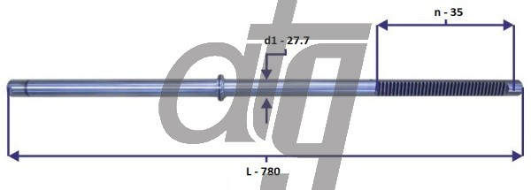 Steering rack bar<br><br>AUDI A4 B6 (8E1)<br> (L - 780, d1 - 27,7, n - 35)<br><br>