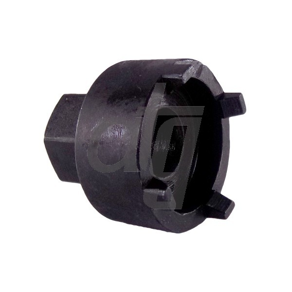 Tool for mantling and dismantling of bottom pinion nut<br><br>FORD Mondeo IV 2006-2014 (h=160mm)<br> FORD S-Max 2006- (h=160mm)<br> FORD Galaxy II 2006- (h=160mm)<br> VOLVO S80 II 2006-2010 (h=160mm)<br> VOLVO XC60 2009- (h=160mm)<br> FORD Transit 2014-<br> FORD Tourneo Custom 2012-<br> LAND ROVER Freelander II 2006-2014<br> FORD S-Max 2006- (h=220mm)<br> FORD Galaxy II 2006-, (h=220mm)<br> CHRYSLER 300 2011-<br> DODGE Challenger 2011-