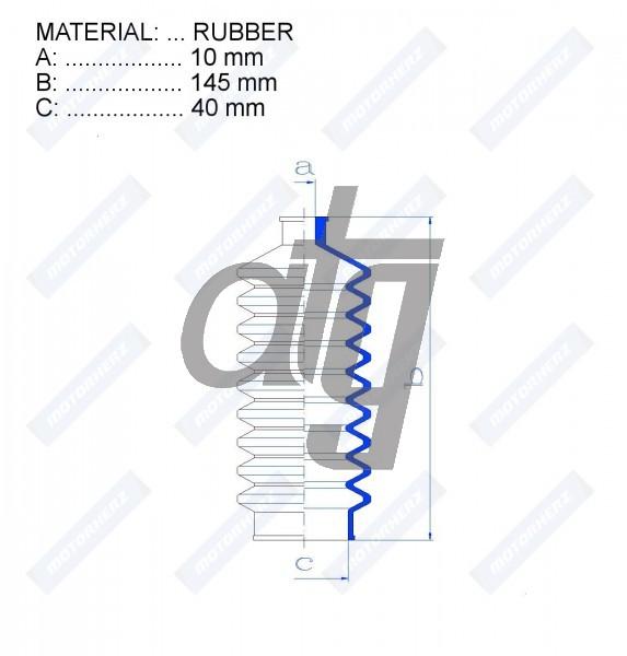 ATG RDZ0538MG Steering Rack Gaiter